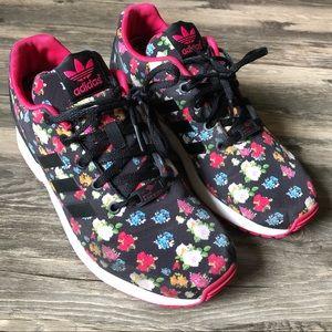 Adidas Torsion ZX Flux Black & Pink Floral Shoes